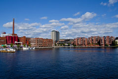 Tampere Wide angle Shot Royalty Free Stock Photography