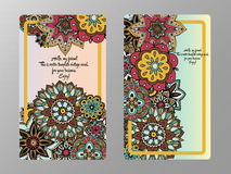 Tamplate de carte de vintage Invitation de mariage, carte pour vos affaires Images libres de droits