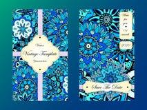 Tamplate de carte de vintage Invitation de mariage, carte pour vos affaires Photographie stock libre de droits