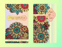 Tamplate do cartão do vintage Convite do casamento, cartão para seu negócio Imagens de Stock Royalty Free