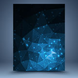 Tamplate geometrico blu Fotografie Stock