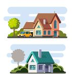 Tamplate of real estate, property and ownership. Vector in flat style Stock Photography