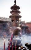 Tample bouddhiste chinois de visite Image libre de droits
