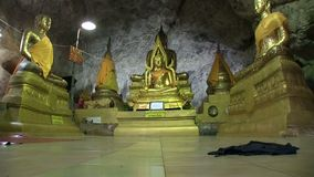 Tample in the cave, Buddha stock video footage