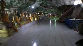 Tample in the cave, inside central hall stock video