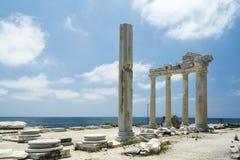 tample de Apollon en lado Foto de archivo libre de regalías