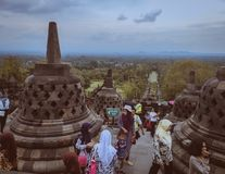 Tample de Borobudur foto de stock