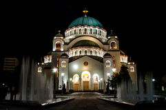 Tample of Sveti Sava Royalty Free Stock Image