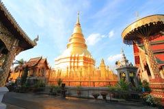 Tample tailandês de buddha em Lumpoon fotografia de stock royalty free