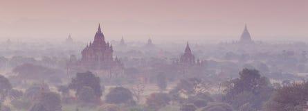 Tamples av Bagan, Burma, Myanmar, Asien Fotografering för Bildbyråer