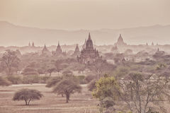 Tamples of Bagan, ancient city Royalty Free Stock Images