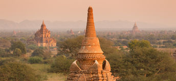 Tamples de Bagan, Burma, Myanmar, Ásia Imagens de Stock