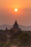 Tamples di Bagan, Birmania, Myanmar, Asia Immagini Stock Libere da Diritti
