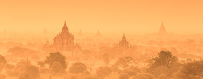 Tamples di Bagan, Birmania, Myanmar, Asia Fotografia Stock Libera da Diritti