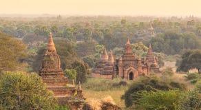 Tamples di Bagan, Birmania, Myanmar, Asia Fotografia Stock
