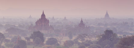 Tamples van Bagan, Birma, Myanmar, Azië Stock Afbeelding