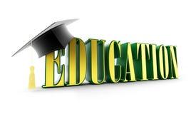 Tampão da instrução e da graduação Fotos de Stock Royalty Free