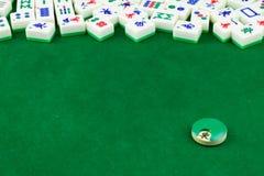 Tampo da mesa de Mahjong imagem de stock