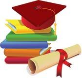 Tampão e grau da graduação Fotos de Stock