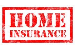 Tampon en caoutchouc à la maison d'assurance Image libre de droits