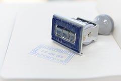 Tampon en caoutchouc Image stock