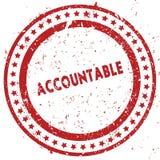 Tampon en caoutchouc affligé RESPONSABLE de rouge avec la texture grunge illustration libre de droits