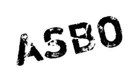 Tampon en caoutchouc antisocial d'ordre de comportement d'ASBO Illustration de Vecteur