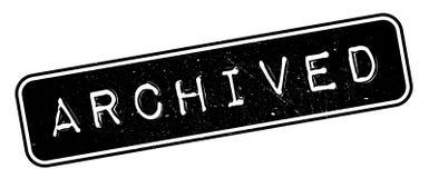 Tampon en caoutchouc archivé Photographie stock