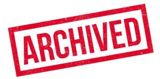 Tampon en caoutchouc archivé Photos stock