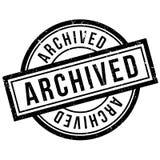 Tampon en caoutchouc archivé Images libres de droits