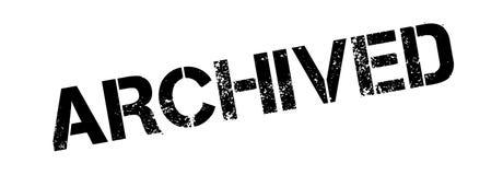 Tampon en caoutchouc archivé Image libre de droits