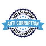 Tampon en caoutchouc avec l'anti concept de corruption Image stock