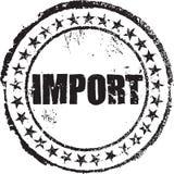 Tampon en caoutchouc avec l'importation des textes illustration stock