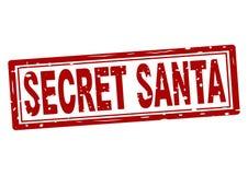 Tampon en caoutchouc avec le texte Santa secrète à l'intérieur illustration de vecteur