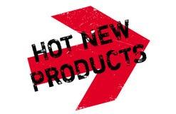 Tampon en caoutchouc chaud de nouveaux produits Photographie stock libre de droits