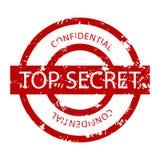 Tampon en caoutchouc confidentiel extrêmement secret illustration stock