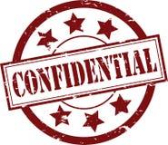 Tampon en caoutchouc confidentiel (vecteur) Photo libre de droits