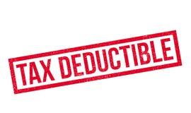 Tampon en caoutchouc déductible de l'impôt illustration libre de droits