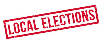 Tampon en caoutchouc d'élections locales illustration de vecteur