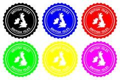 Tampon en caoutchouc d'îles britanniques illustration stock