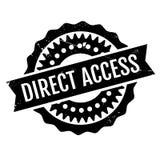 Tampon en caoutchouc d'accès direct Photo libre de droits