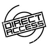 Tampon en caoutchouc d'accès direct Photos stock