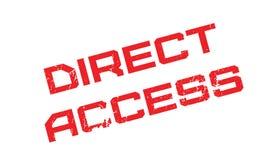 Tampon en caoutchouc d'accès direct Images libres de droits