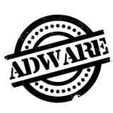 Tampon en caoutchouc d'Adware Photos stock