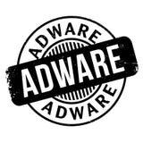 Tampon en caoutchouc d'Adware Image stock