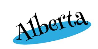 Tampon en caoutchouc d'Alberta Image libre de droits