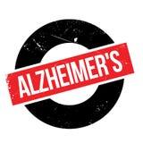 Tampon en caoutchouc d'Alzheimer Photographie stock libre de droits