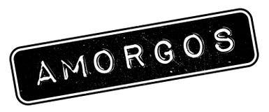 Tampon en caoutchouc d'Amorgos Photos libres de droits
