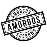 Tampon en caoutchouc d'Amorgos Photographie stock