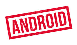 Tampon en caoutchouc d'Android Photo libre de droits